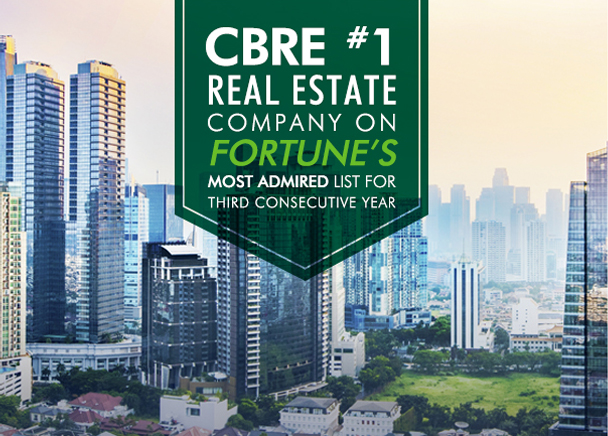 #1 Real Estate Company on Fortune's Most Admired Company List 2021